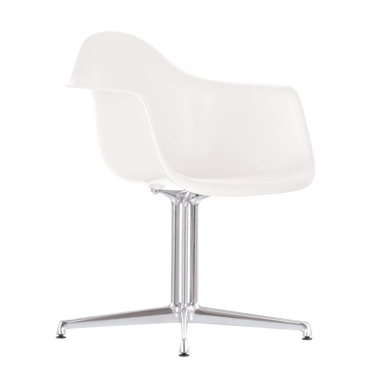 Vitra   Eames Plastic Armchair DAL, White, Felt Pads