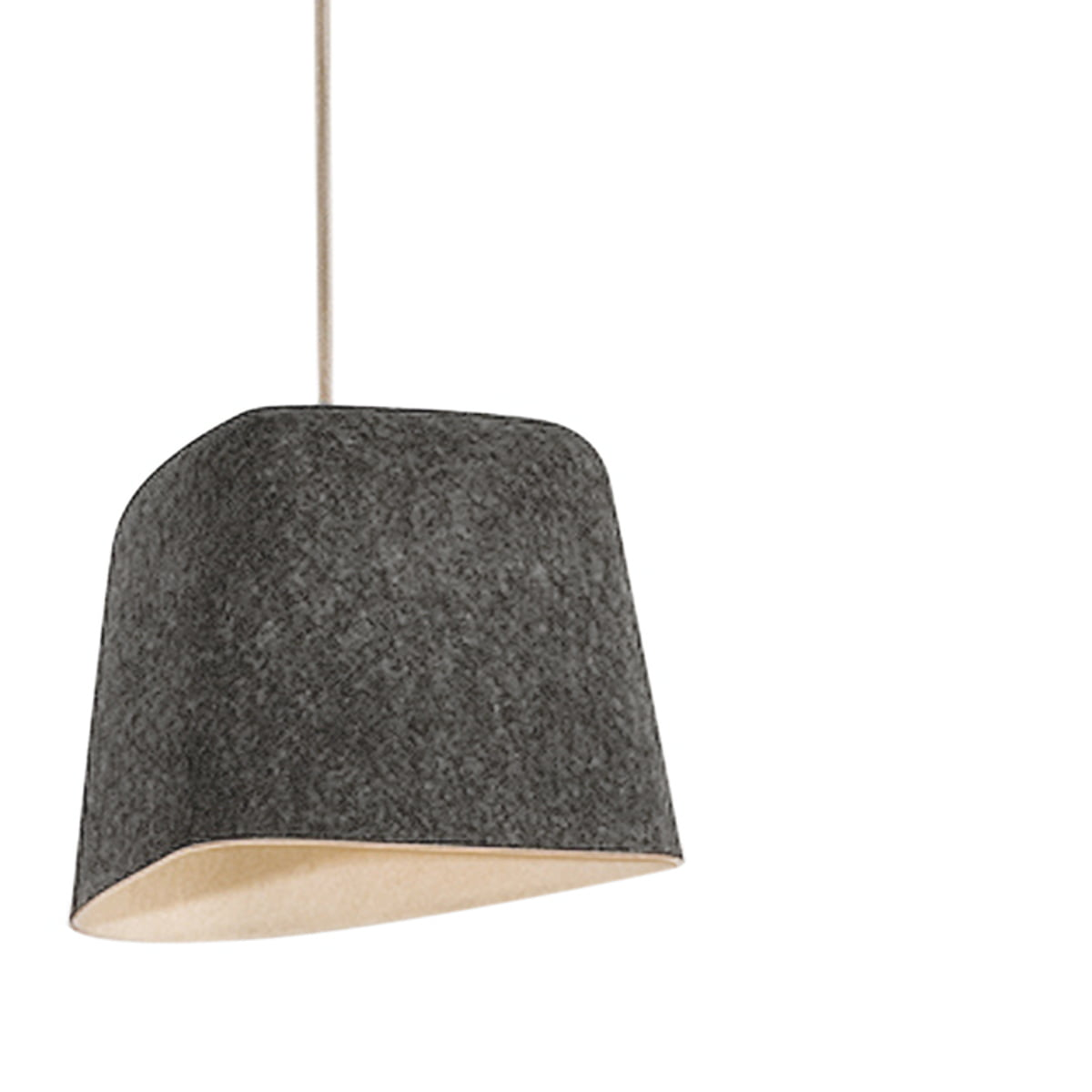 felt shade pendant lamp by tom dixon. Black Bedroom Furniture Sets. Home Design Ideas