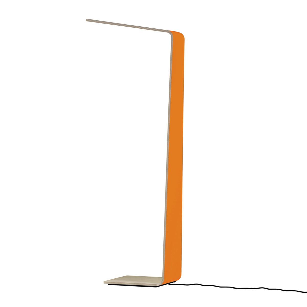 Led 2 wooden floor lamp by tunto in the shop led 2 floor lamp by tunto in orange aloadofball Images