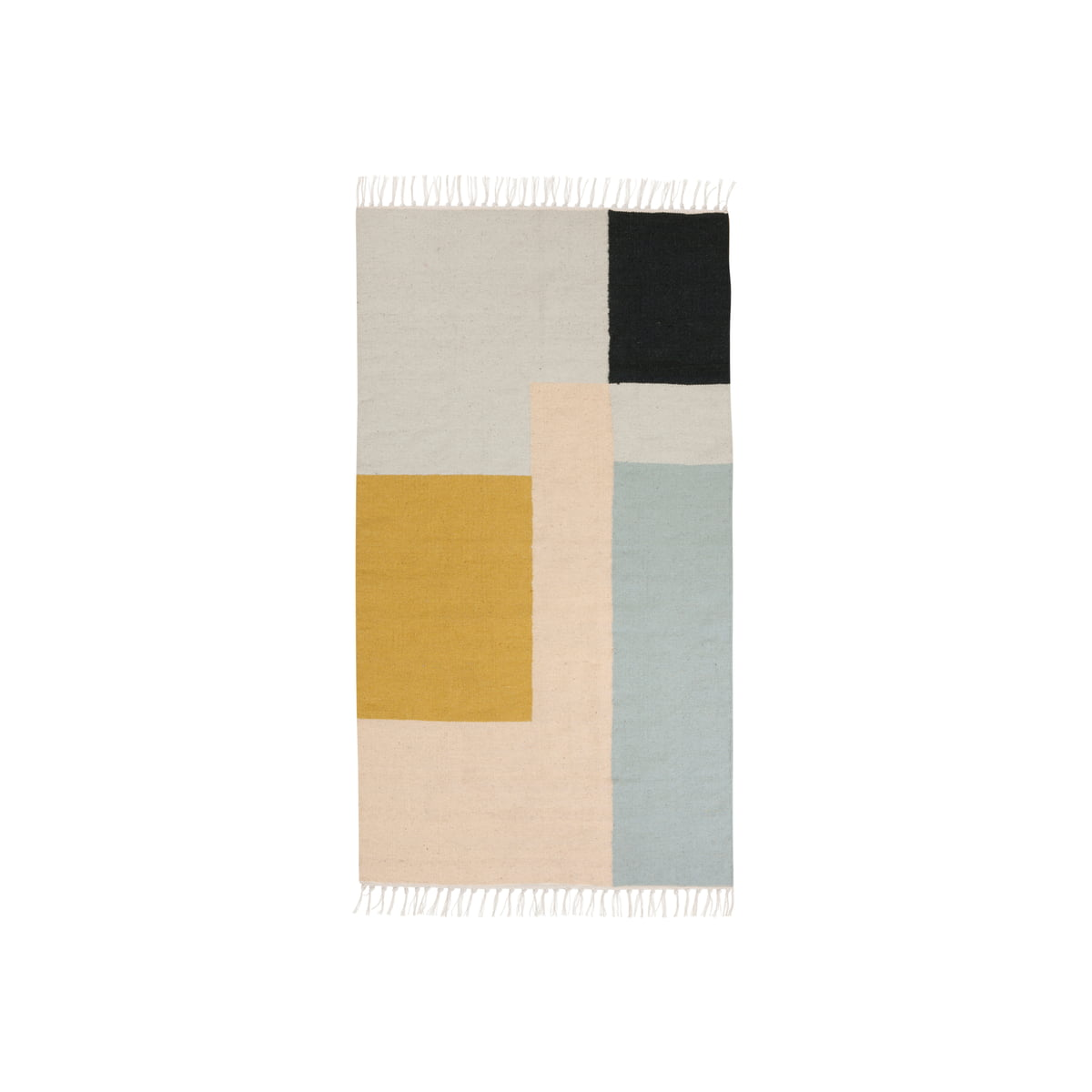 kelim rug squares by ferm living in the shop. Black Bedroom Furniture Sets. Home Design Ideas