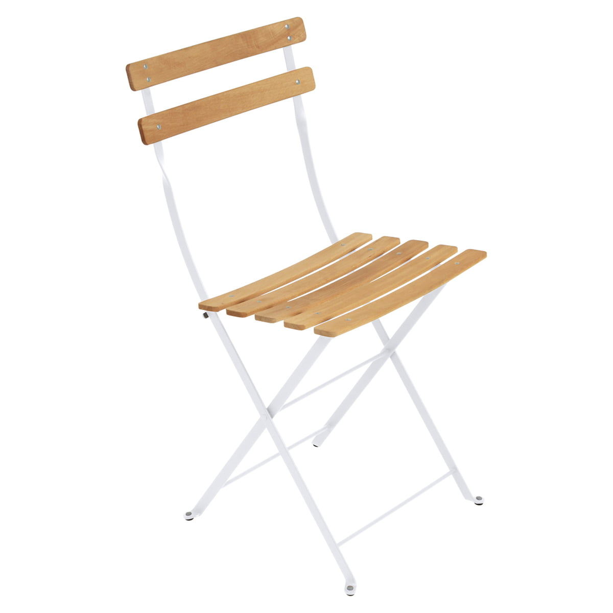 Fermob Bistro Folding Chair Natural Cotton White
