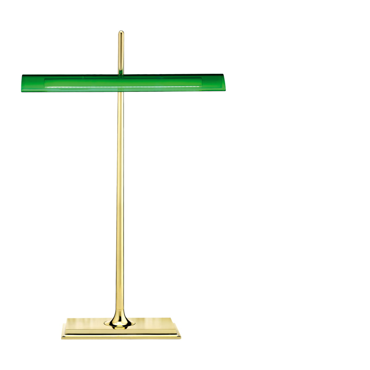Charmant Flos   Goldman Table Lamp, Solid Brass, Green