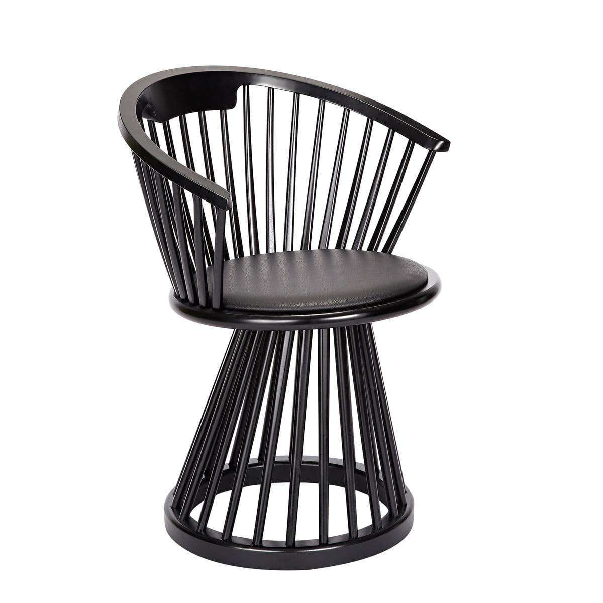 Tom Dixon - Fan Dining Chair, natural oak / black
