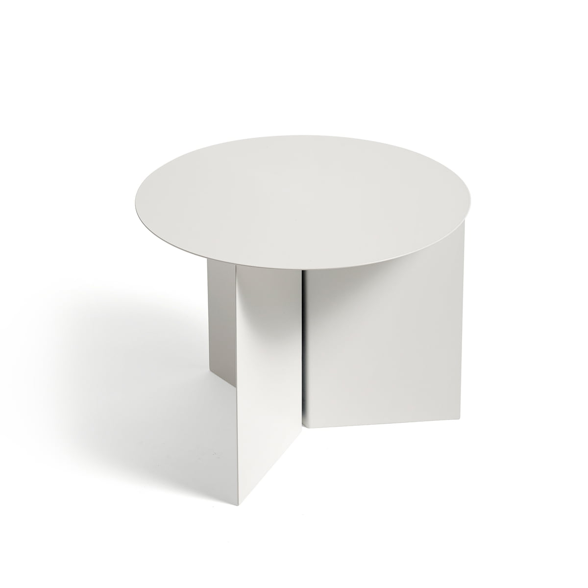 Beau Hay   Slit Table Round, White