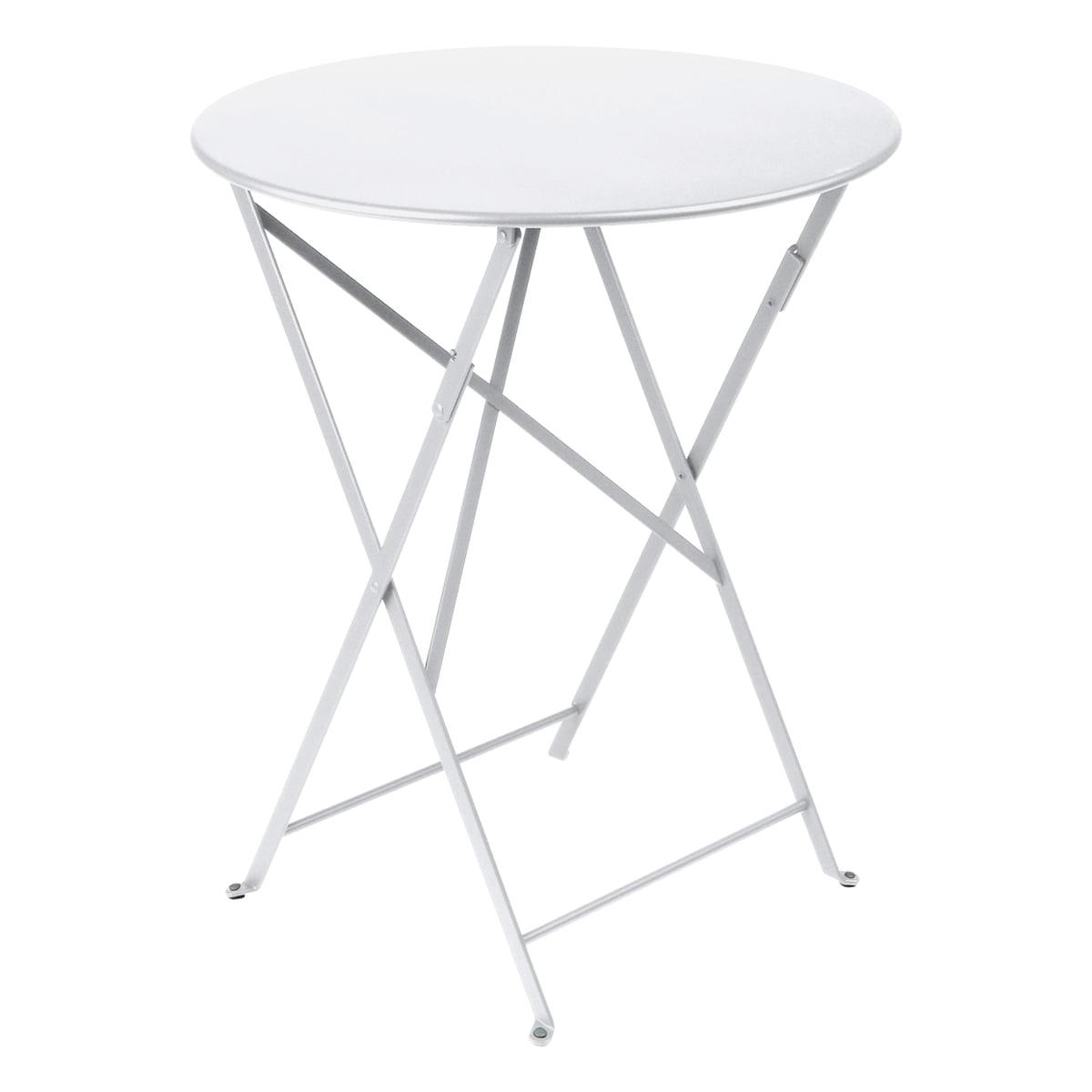 Klapptisch 60.Fermob Bistro Folding Table ø 60 Cm Cotton White