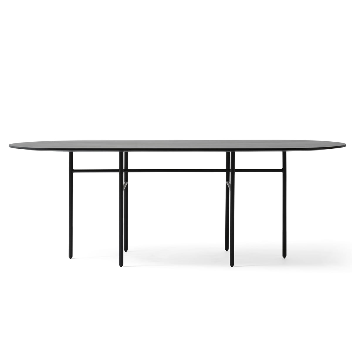 Menu   Snaregade Table, Oval, Black Veneer