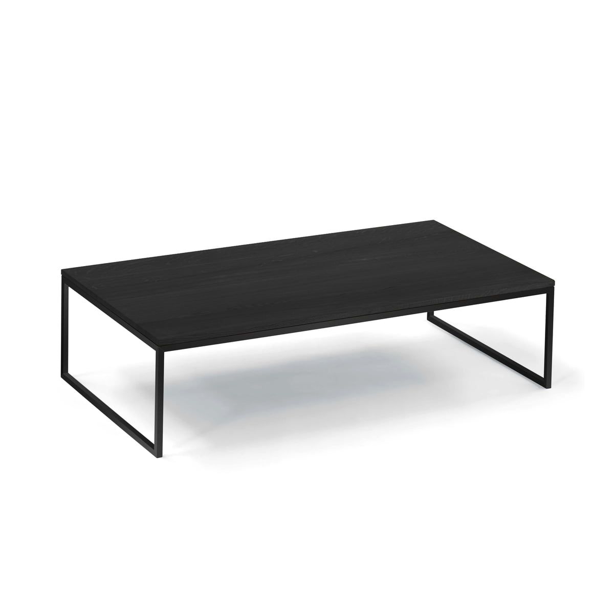 Less h 52 coffee table by hans hansen hans hansen less h 52 va coffee table sled base black geotapseo Images
