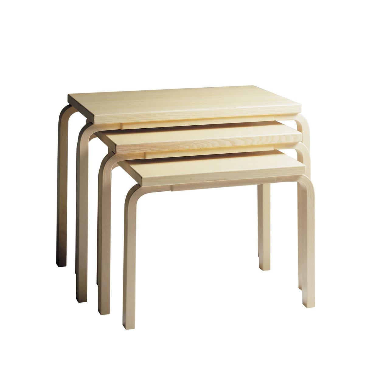 Artek - Nesting Tables birch veneer (set of 3)  sc 1 st  Connox & Nesting Table 88 by Artek