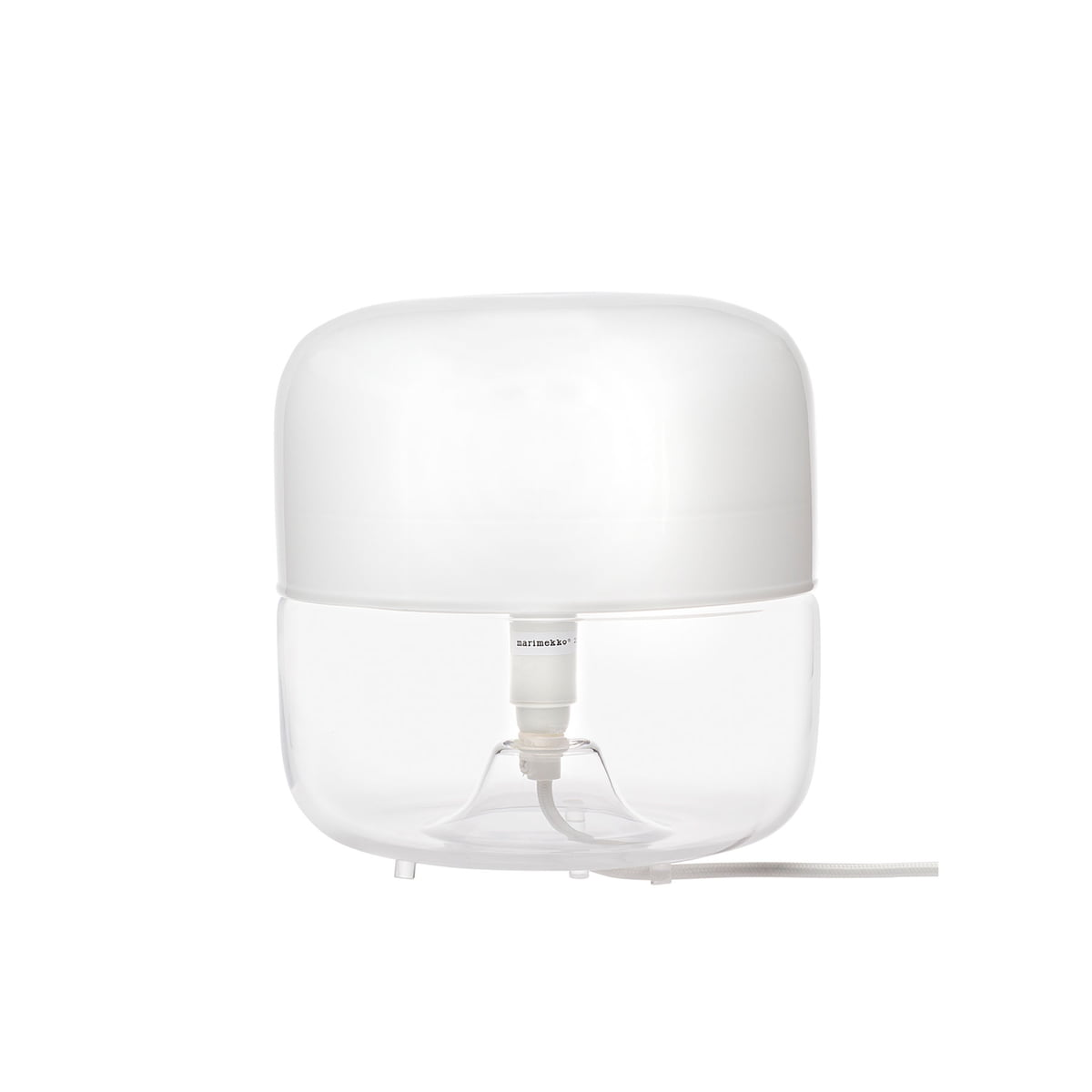 Marimekko   Valoisa Table Lamp Small, White / Transparent