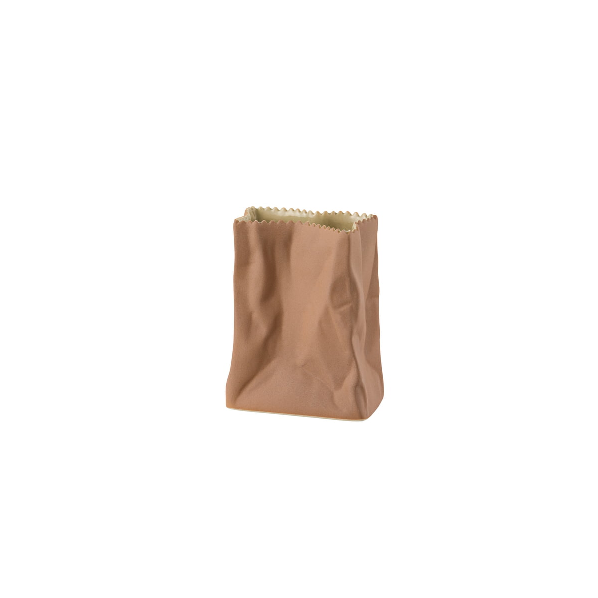 Paper bag vase by rosenthal in the shop rosenthal paper bag vase 10 cm light brown floridaeventfo Gallery
