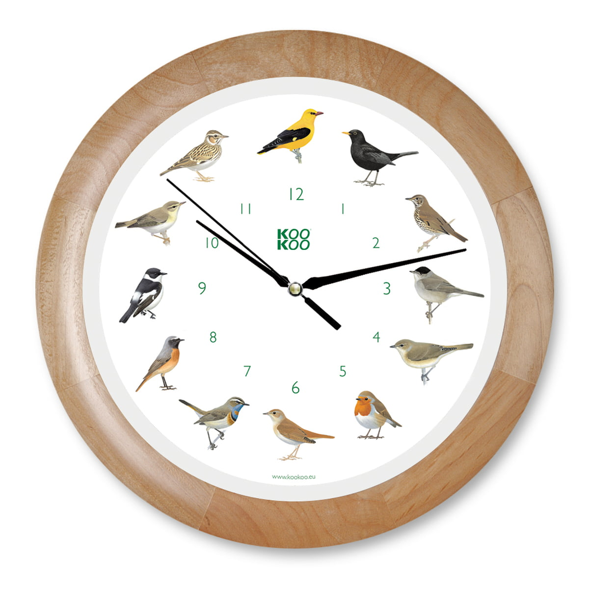 singing bird wall clock by kookoo. Black Bedroom Furniture Sets. Home Design Ideas