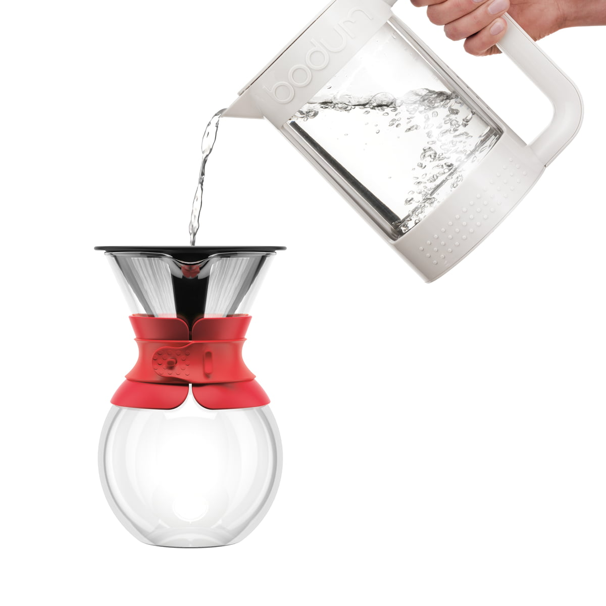 Bodum Pour Over Coffee Maker With Permanent Filter Short Handle 1 0 L