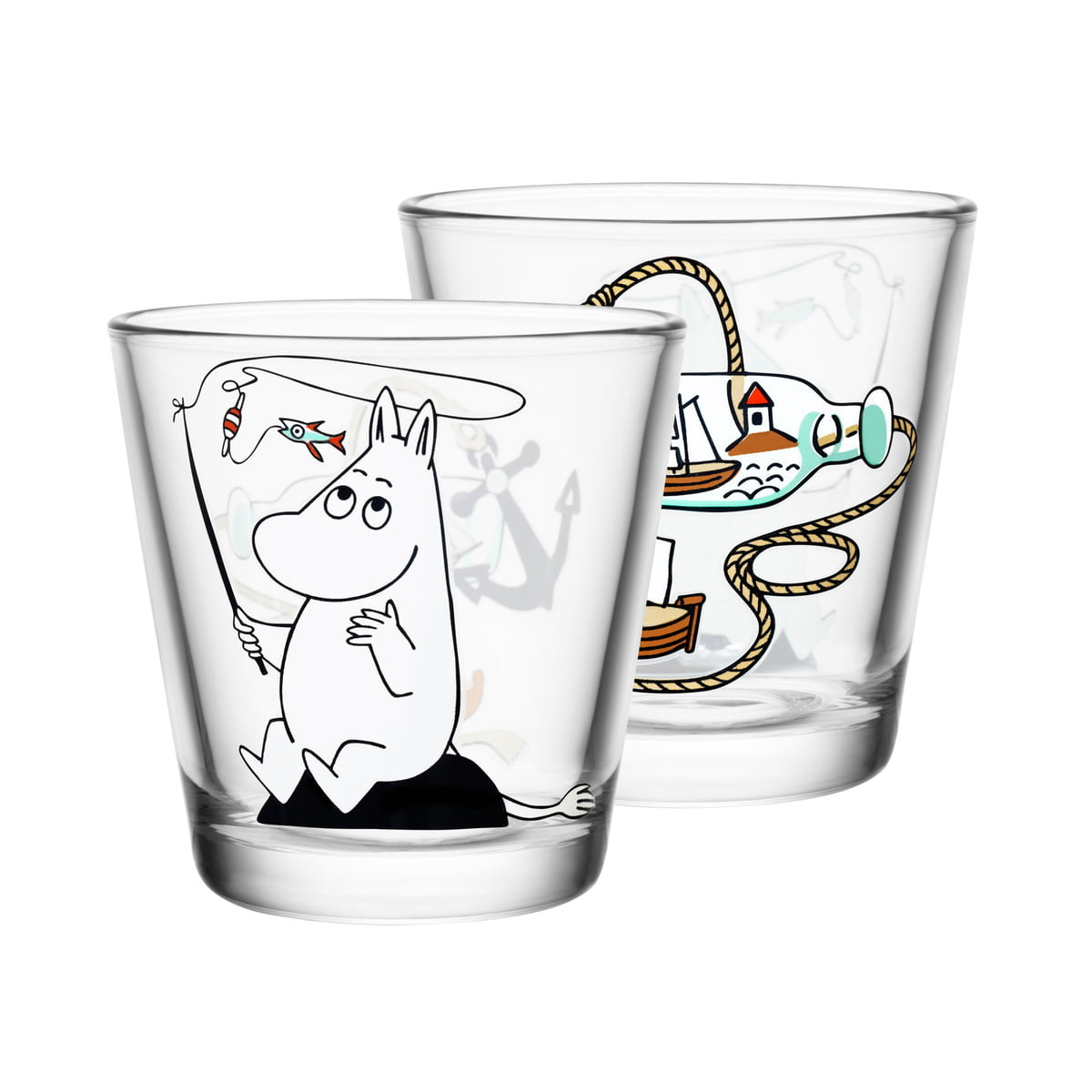 glas 21cl moomin by iittala in the shop. Black Bedroom Furniture Sets. Home Design Ideas