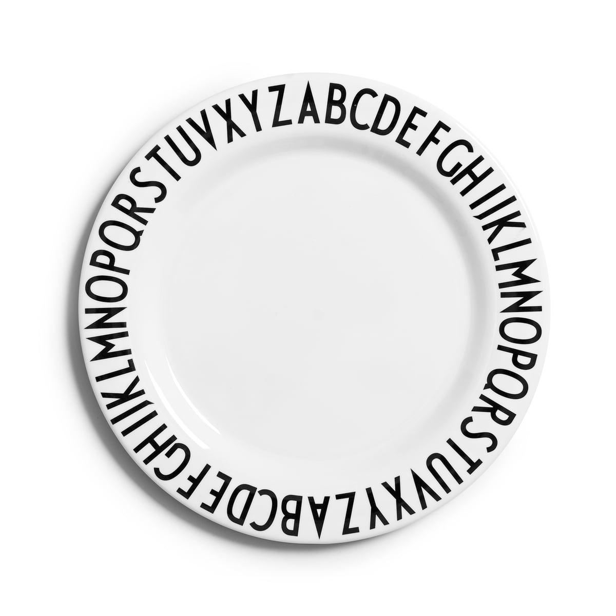 Design Letters - AJ Melamin Plate flat  sc 1 st  Connox & Childrenu0027s tableware by Design Letters