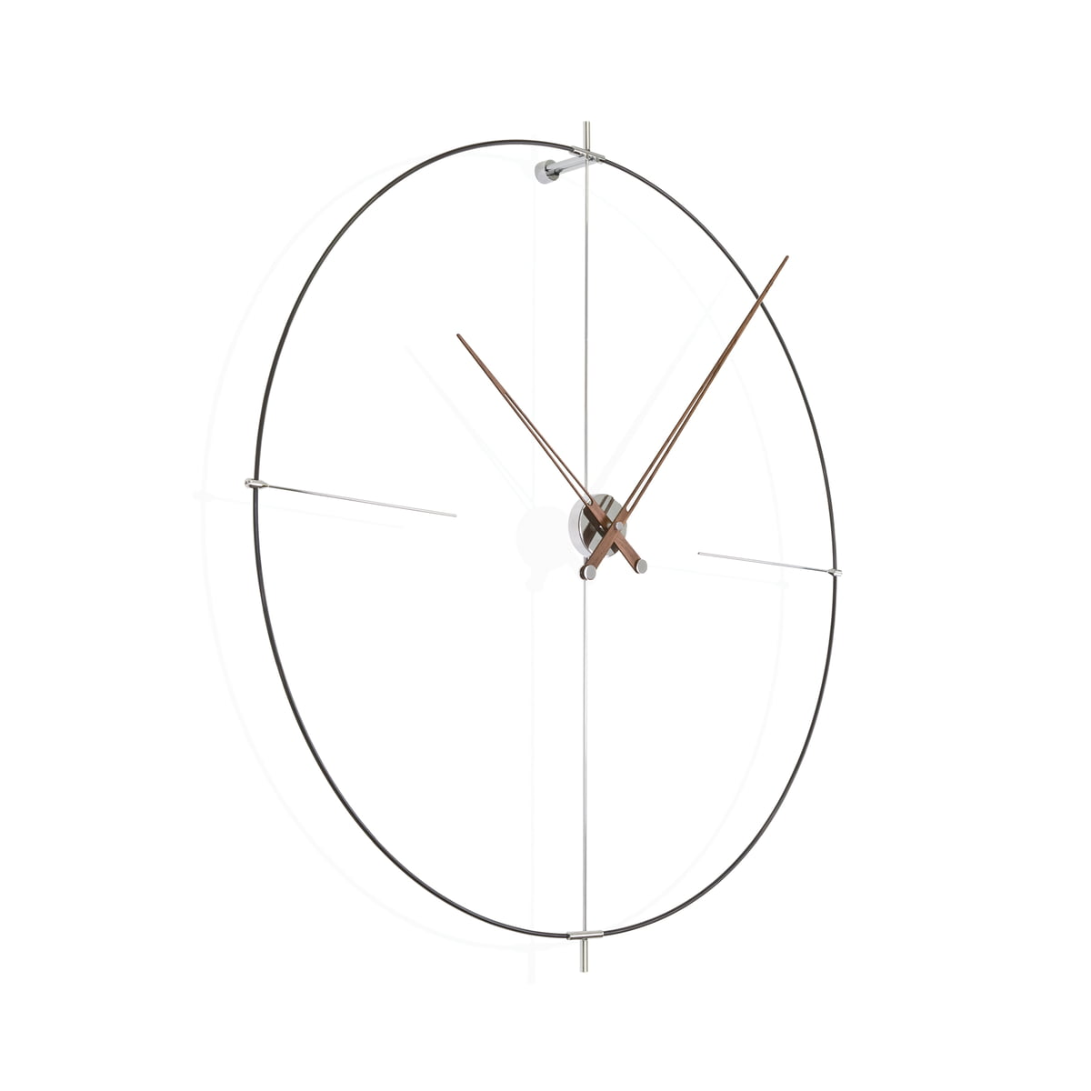 Bilbao wall clock by nomon in the shop bilbao wall clock by nomon in black made of walnut wood ccuart Choice Image