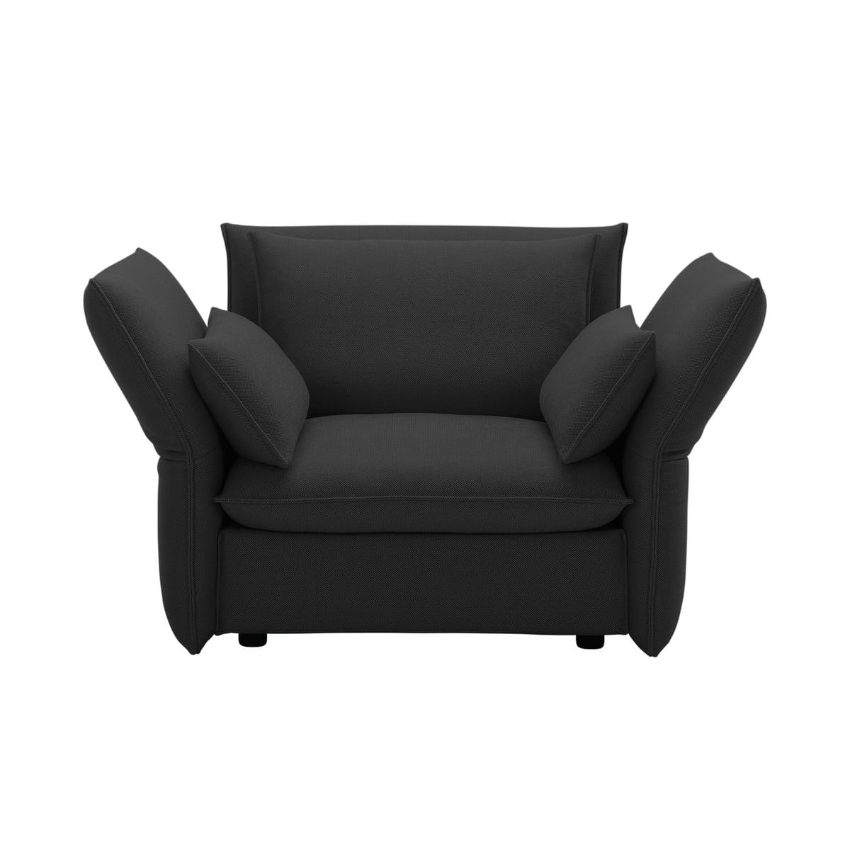 Mariposa Love Seat By Vitra In Laser Dark Grey