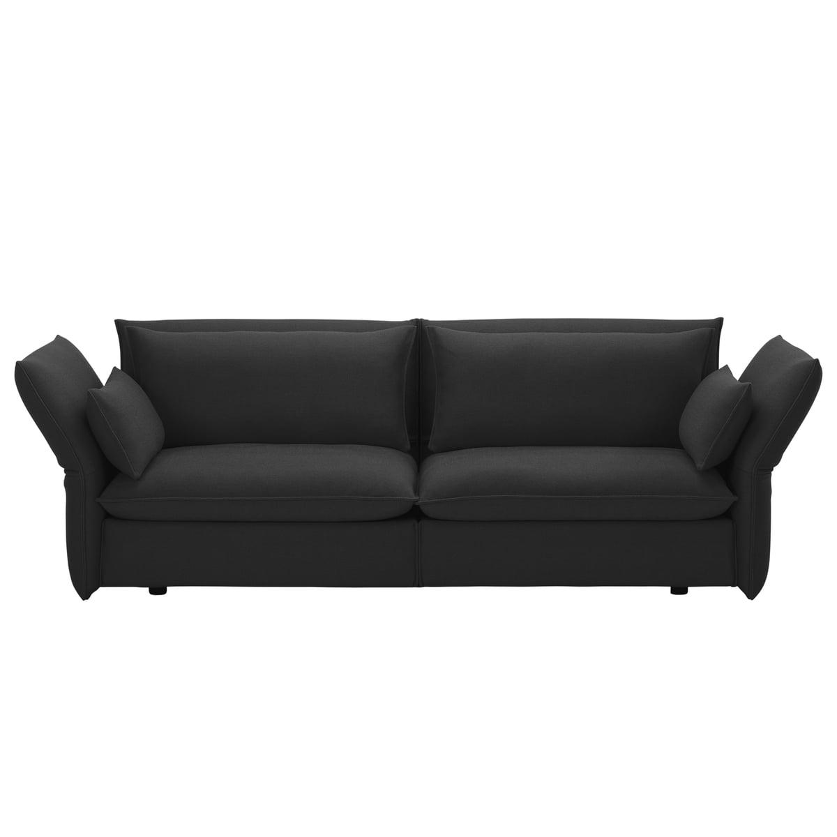 Mariposa Sofa 3 Seater By Vitra, Laser Dark Grey