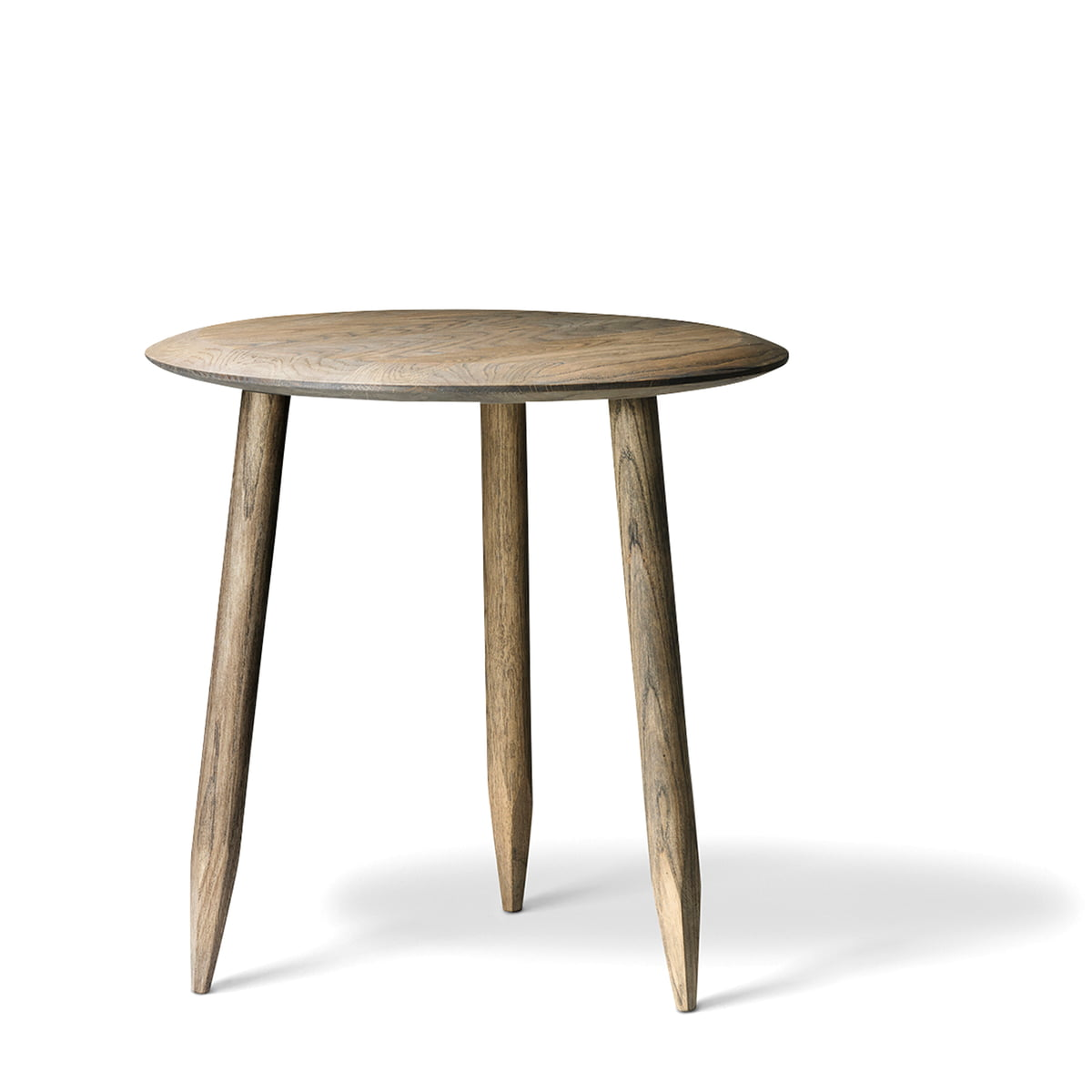 Side Table Klein.Tradition Hoof Side Table Sw1 O 50 Cm Smoked And Oiled Oak Wood