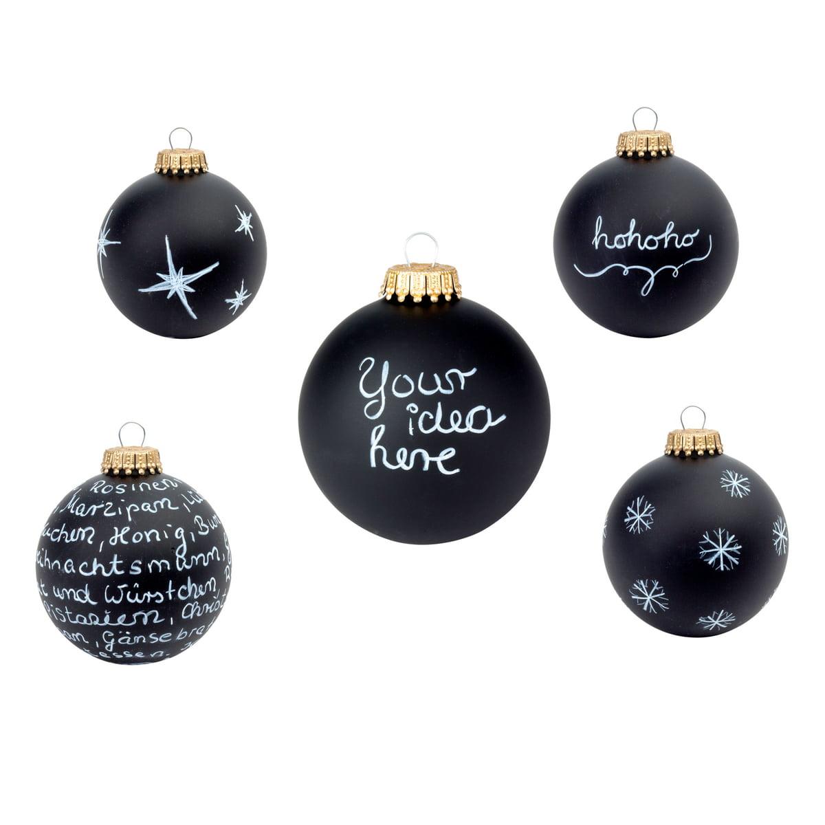 corpus delicti black magic diy christmas tree ornament black matt
