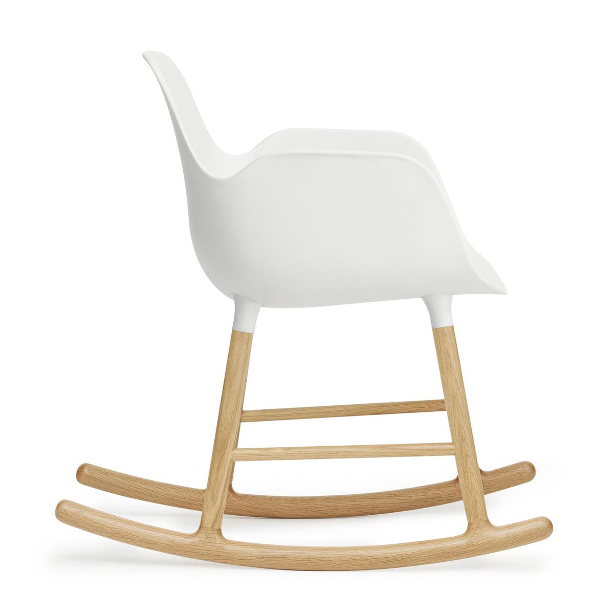 Nice Form Rocking Armchair By Normann Copenhagen Made Of Oak In White