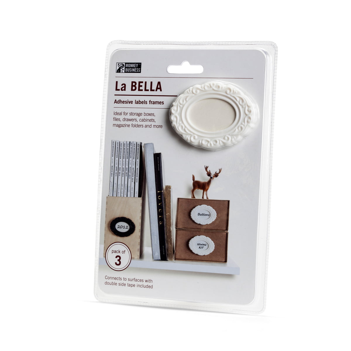 La Bella Label bands SMALL S BLACK Kitchen Home Funky Gift Monkey Business