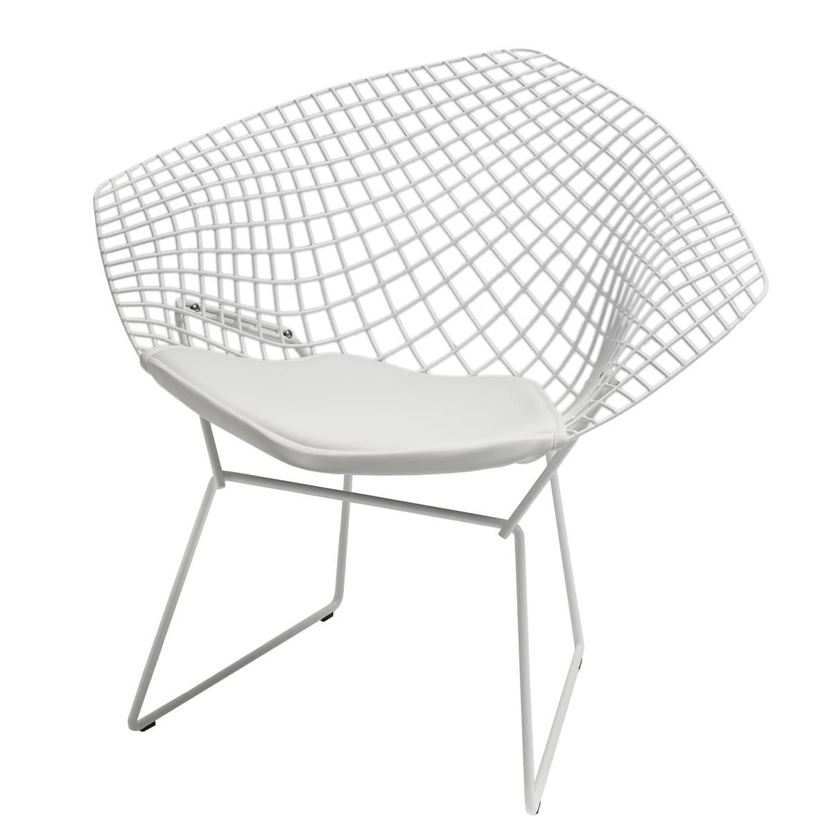 Knoll bertoia diamond armchair white