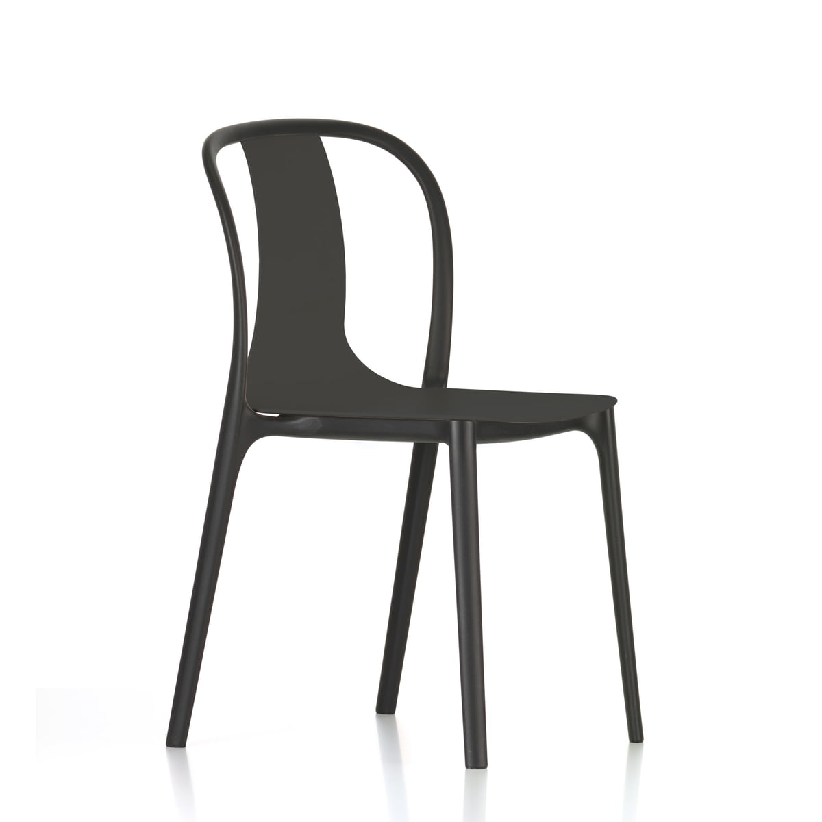 Attrayant Belleville Chair Plastic By Vitra In Deep Black