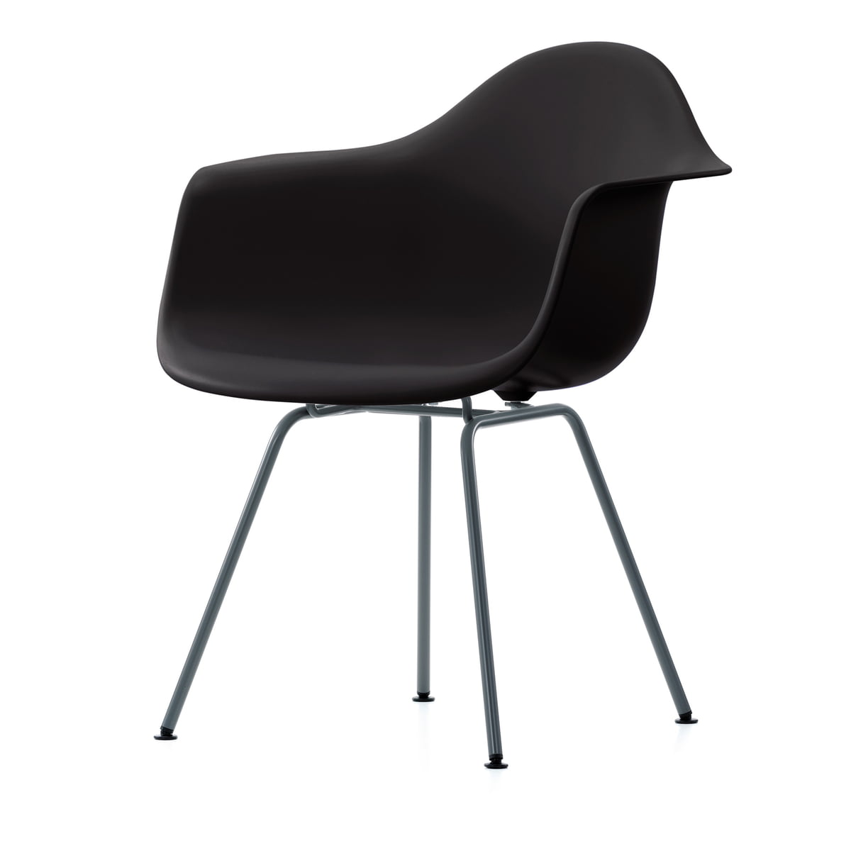 Vitra   Eames Plastic Armchair DAX In Basic Dark
