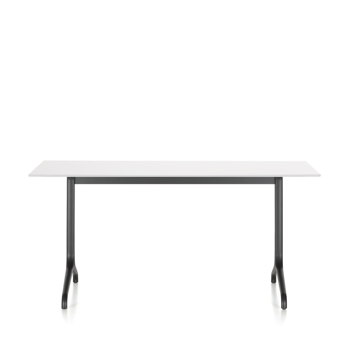 Belleville Dining Table Indoor, Rectangular, 160 X 75 Cm By Vitra In White