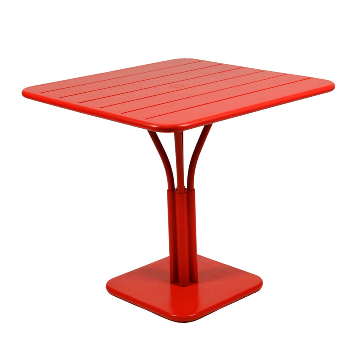 Wonderful Luxembourg Table 80 X 80cm By Fermob In Poppy Red