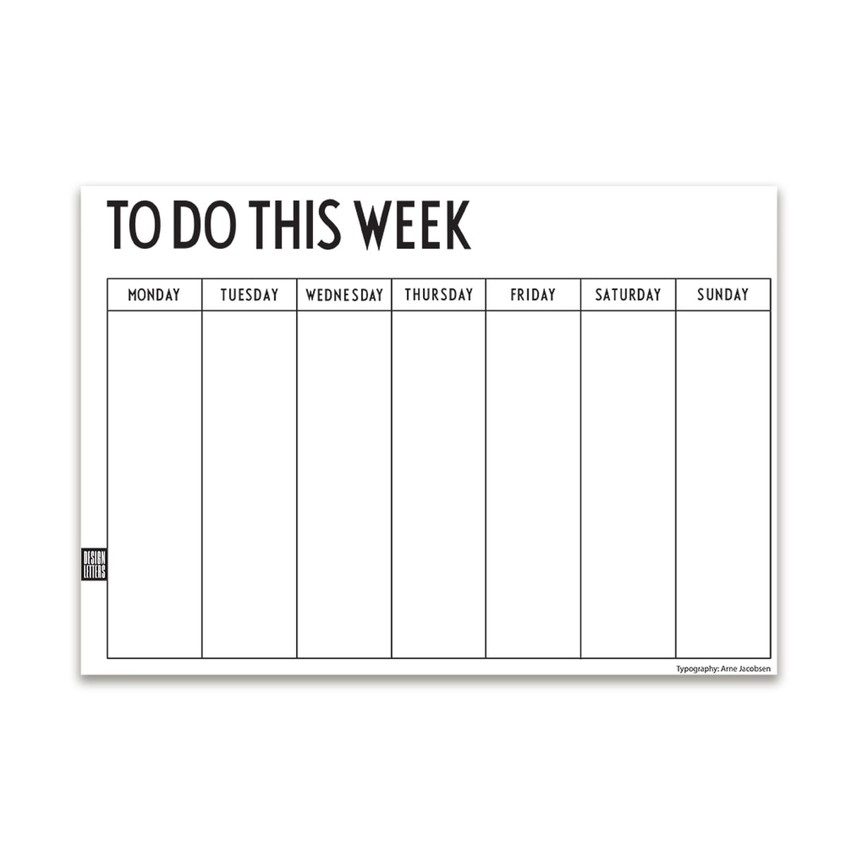 Weekly planner by design letters in the shop for Planner design