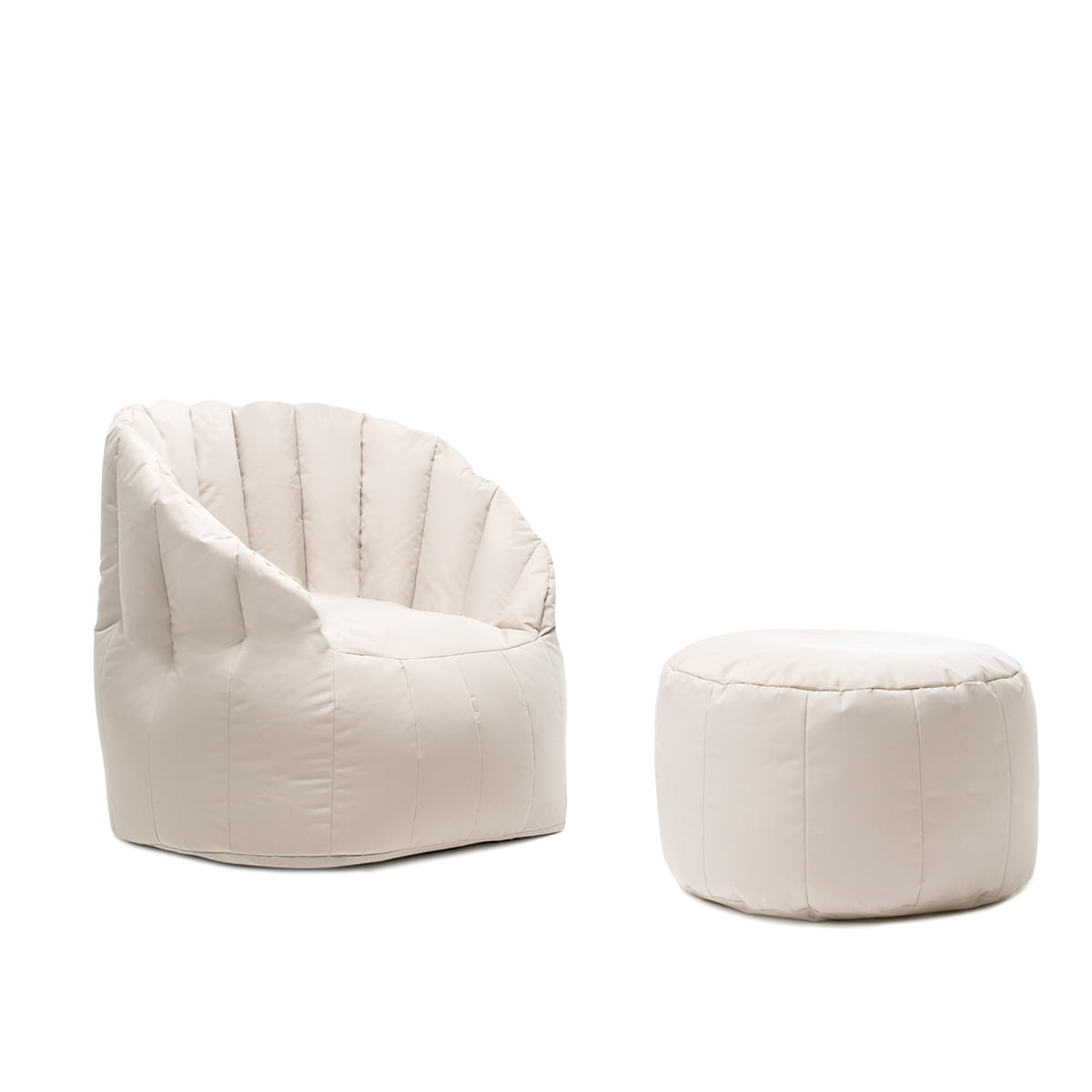 Shell pouf indoor by sitting bull in the shop - Naturewood furniture for both indoor and outdoor sitting ...
