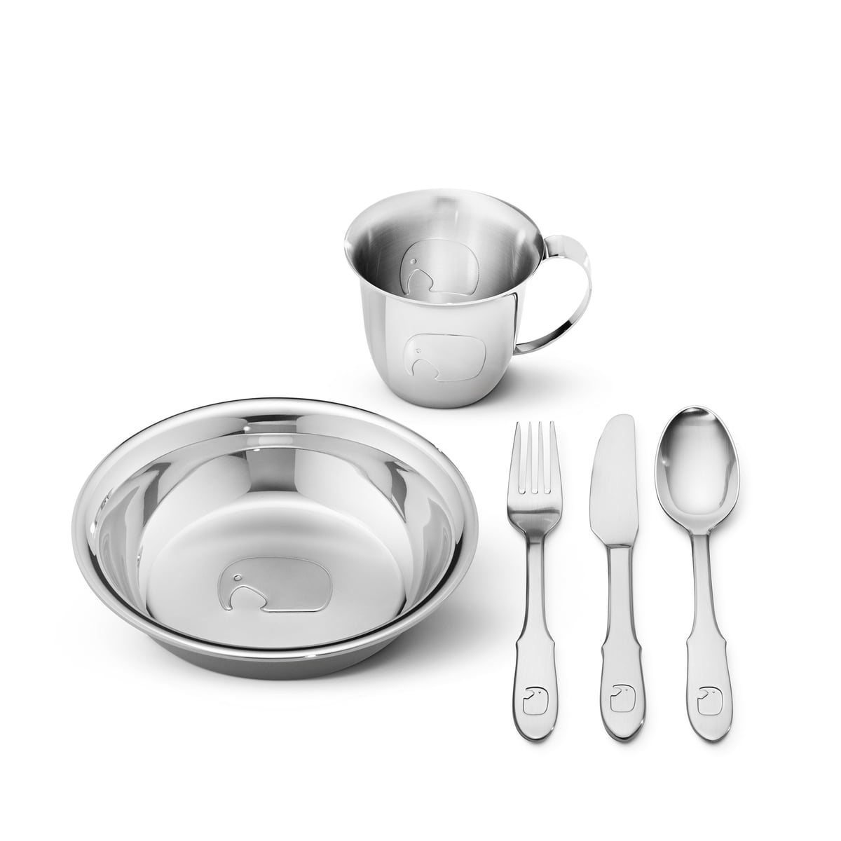 Elephant Kids Dinnerware set by Georg Jensen  sc 1 st  Connox & Kids Dinnerware set by Georg Jensen in the shop