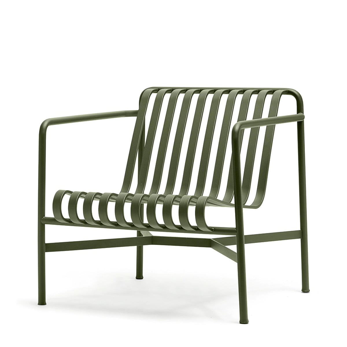 The Palissade Lounge Chair Low By Hay In Olive