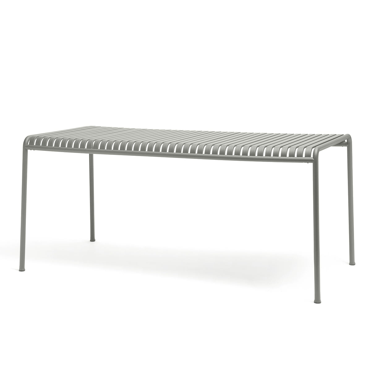 The Palissade Table By Hay In Light Grey, Measuring 160 X 80 Cm