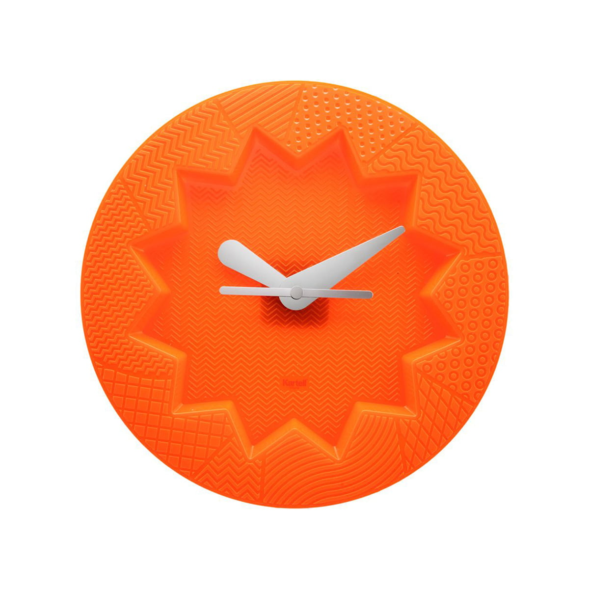 Crystal palace wall clock by kartell in the shop crystal palace wall clock by kartell in orange amipublicfo Choice Image