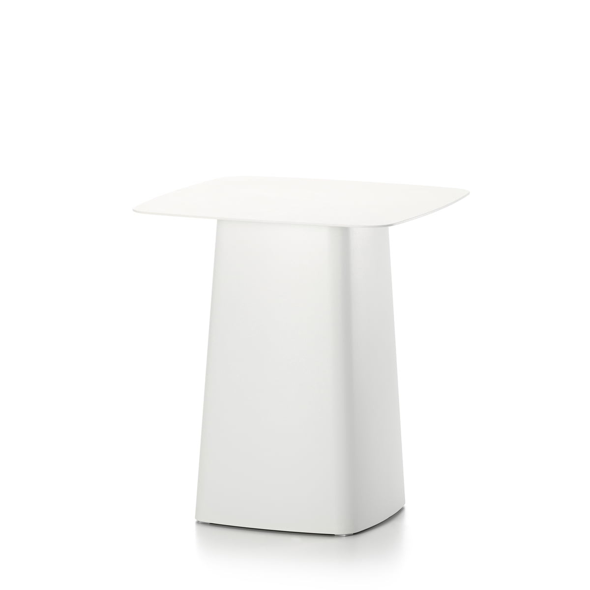 Black metal side table - Vitra Metal Side Table Outdoor Small Ivory