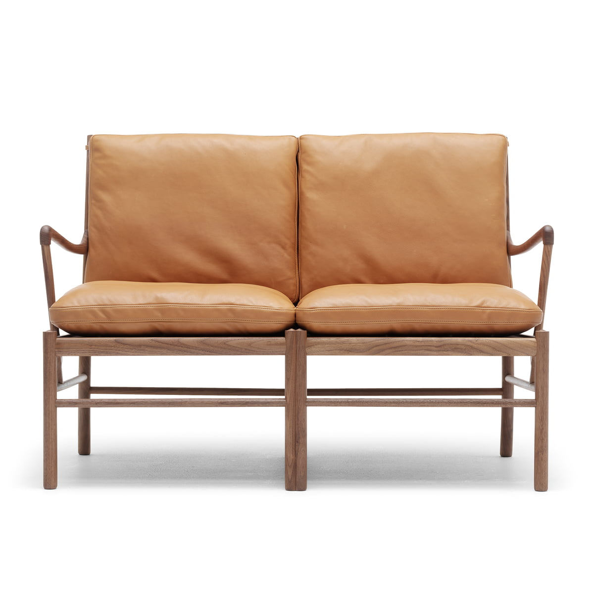 Ow149 2 Colonial Sofa By Carl Hansen Made From Oiled Oak And Leather Sif 95