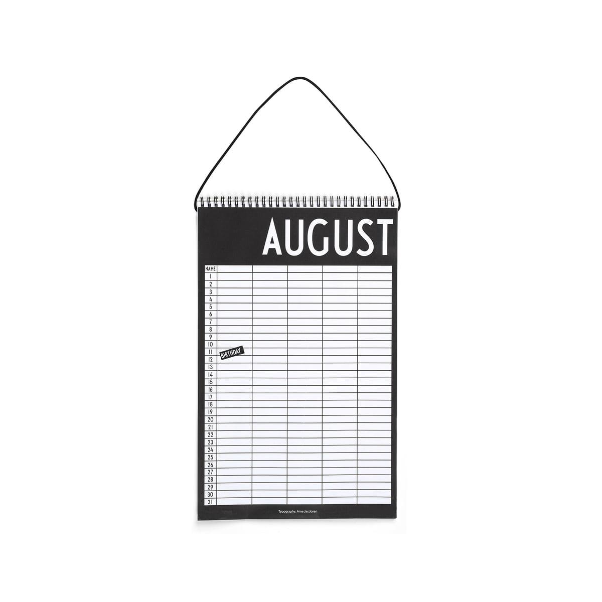 design letters kalender