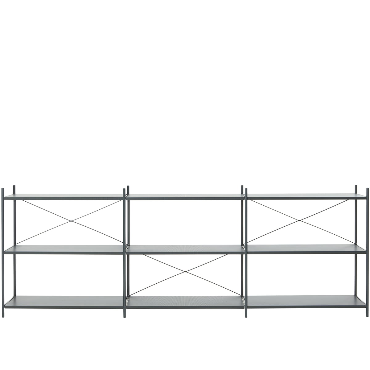 Punctual Shelving System 3x3 By Ferm Living In Dark Blue