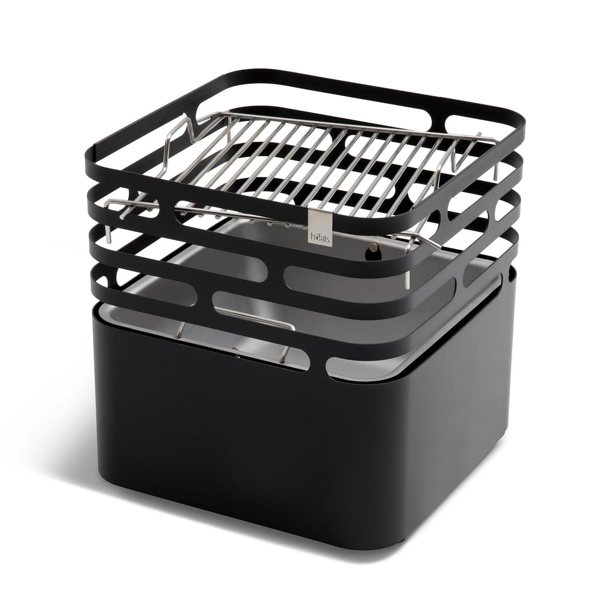 cube fire basket by h fats online shop connox. Black Bedroom Furniture Sets. Home Design Ideas