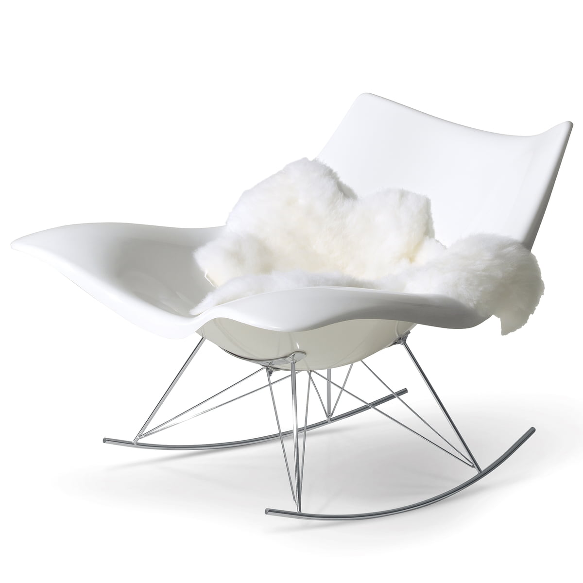Stingray rocking chair by fredericia connox shop for Schaukelstuhl real