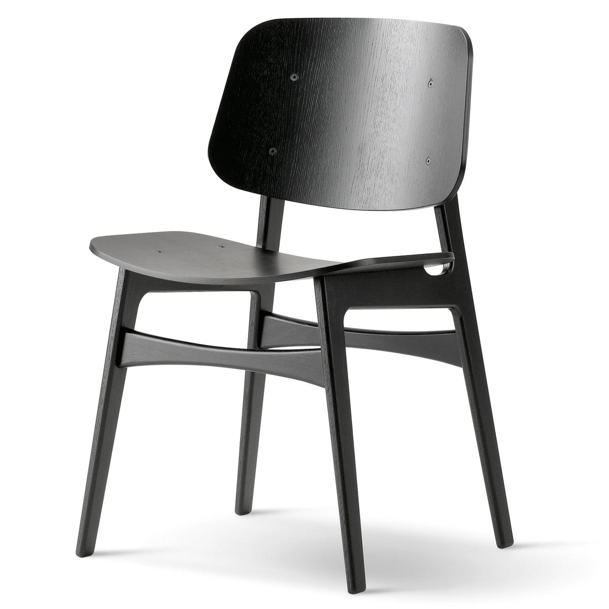 Fredericia Soborg Chair Model 3050 Oak Black Lacquered