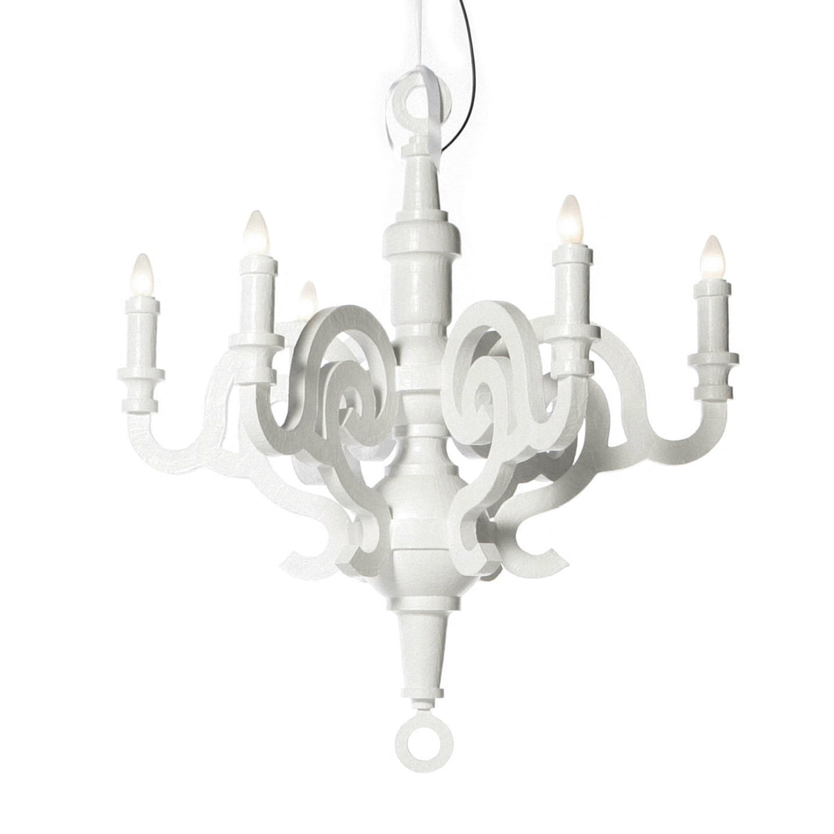 Paper Chandelier L Pendant Lamp By Moooi In White