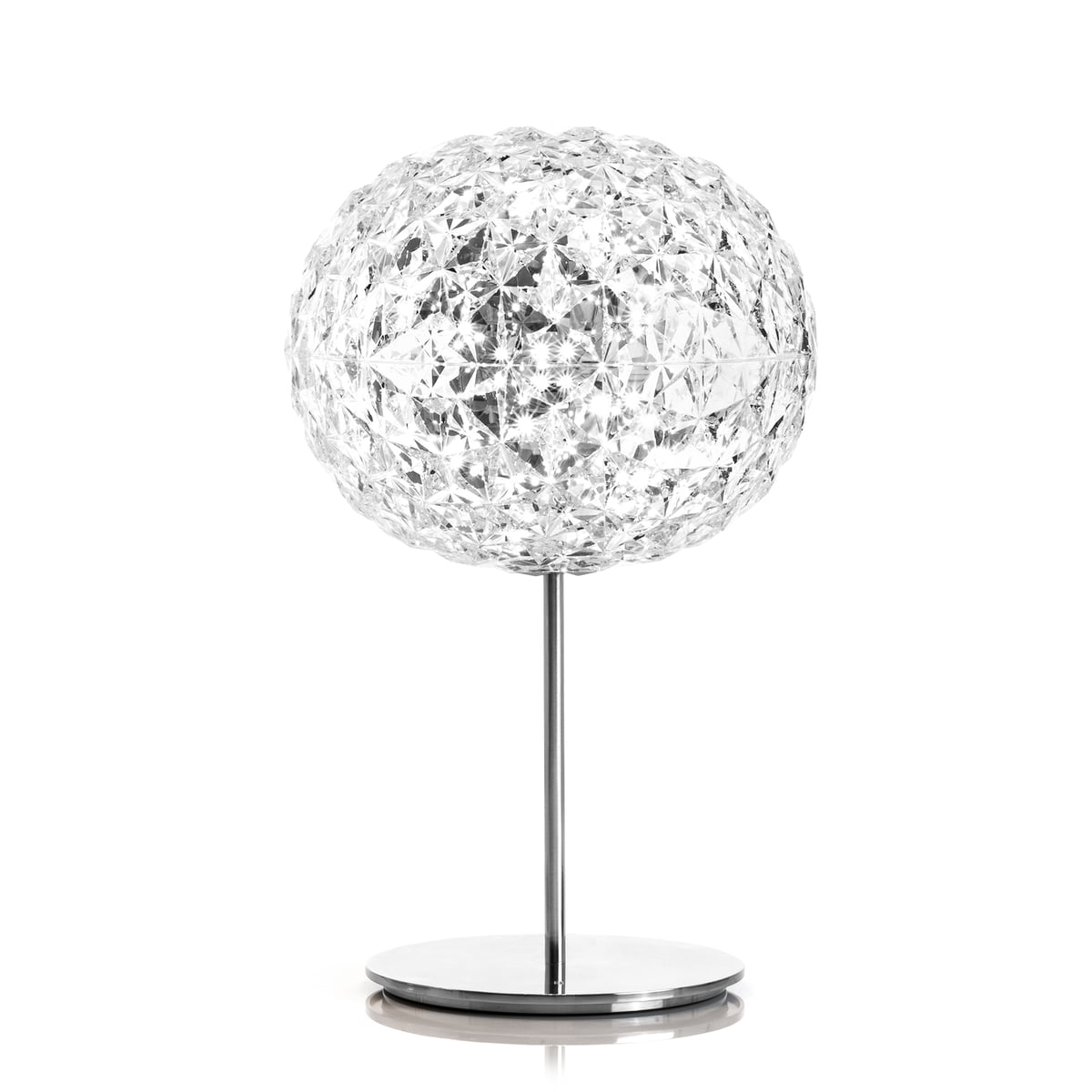 Planet led table lamp with base by kartell dimmable planet led table lamp with base by kartell in crystal clear geotapseo Choice Image