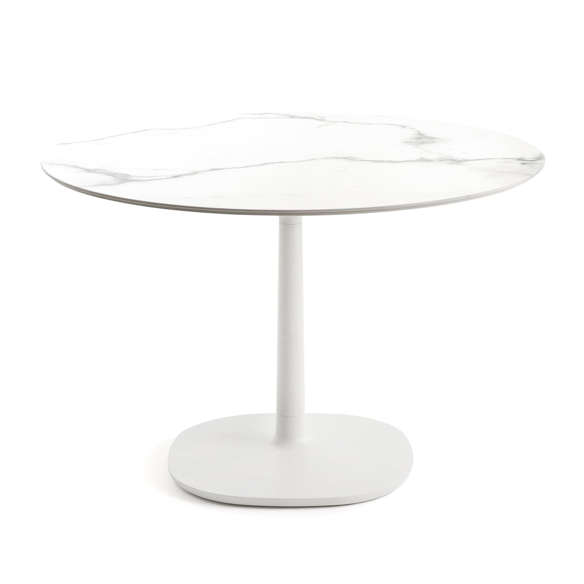 Beau Round Multiplo Bistro Table Ø 118 Cm By Kartell In White