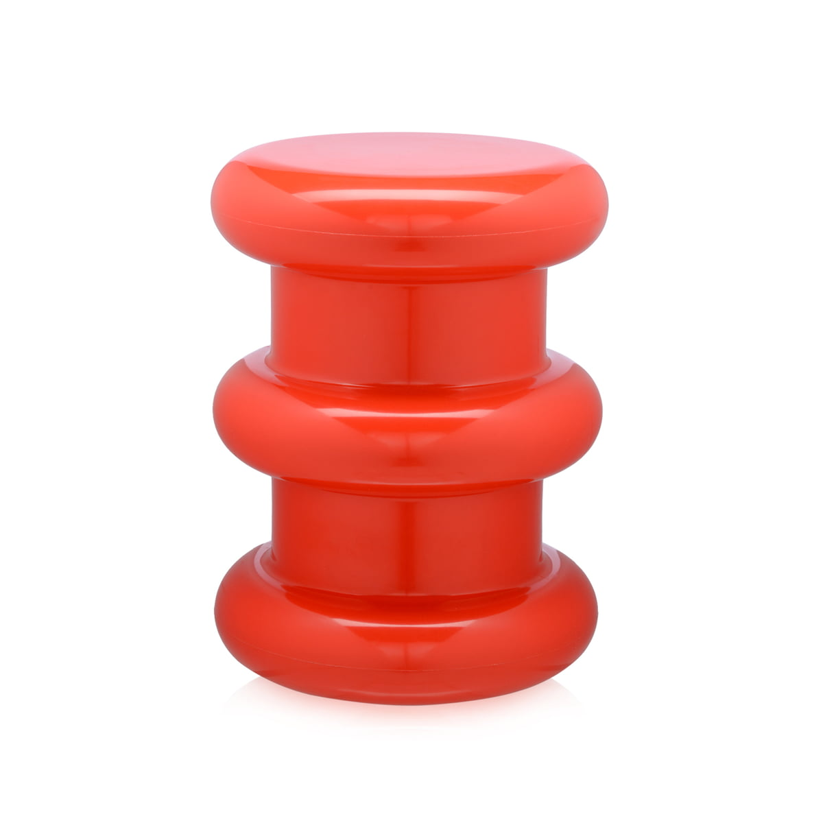 Pilastro Stool / Side Table By Kartell In Red