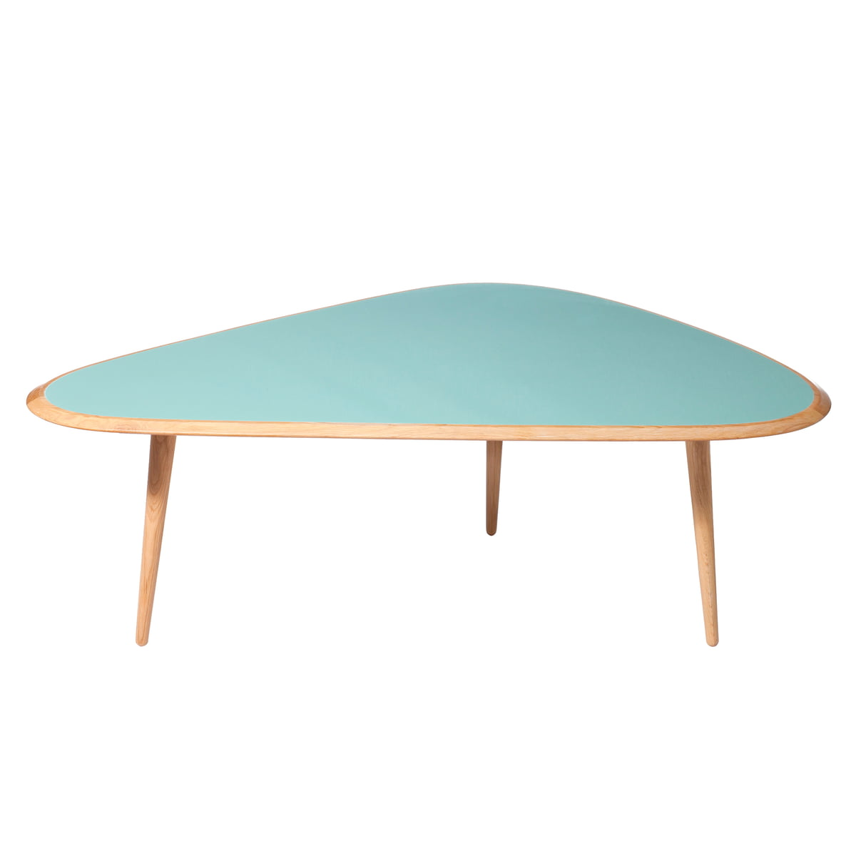 Large Fifties Coffee Table By Red Edition In Mineral Green L09