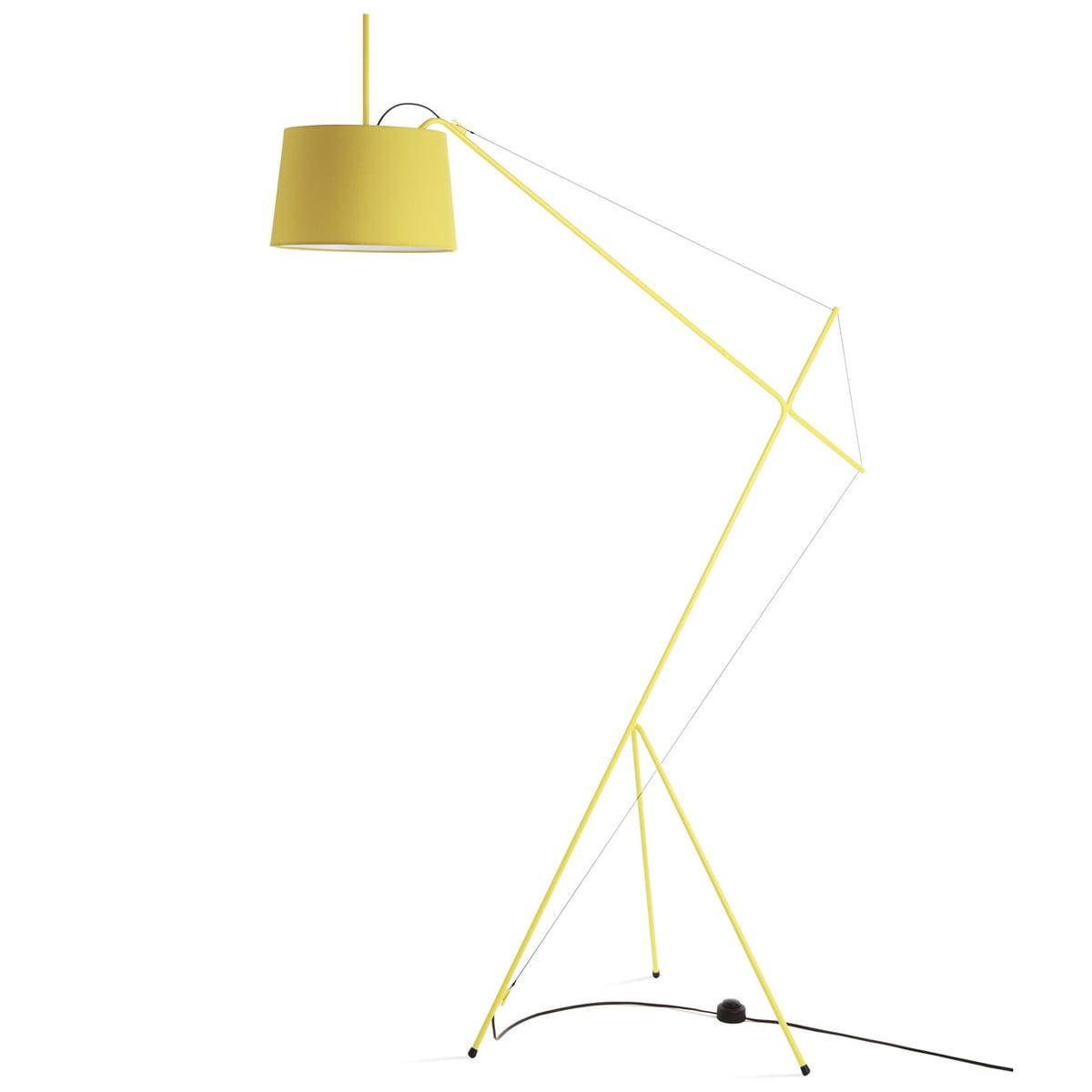 Elisabeth Floor Lamp By Hartô In Lemon Yellow