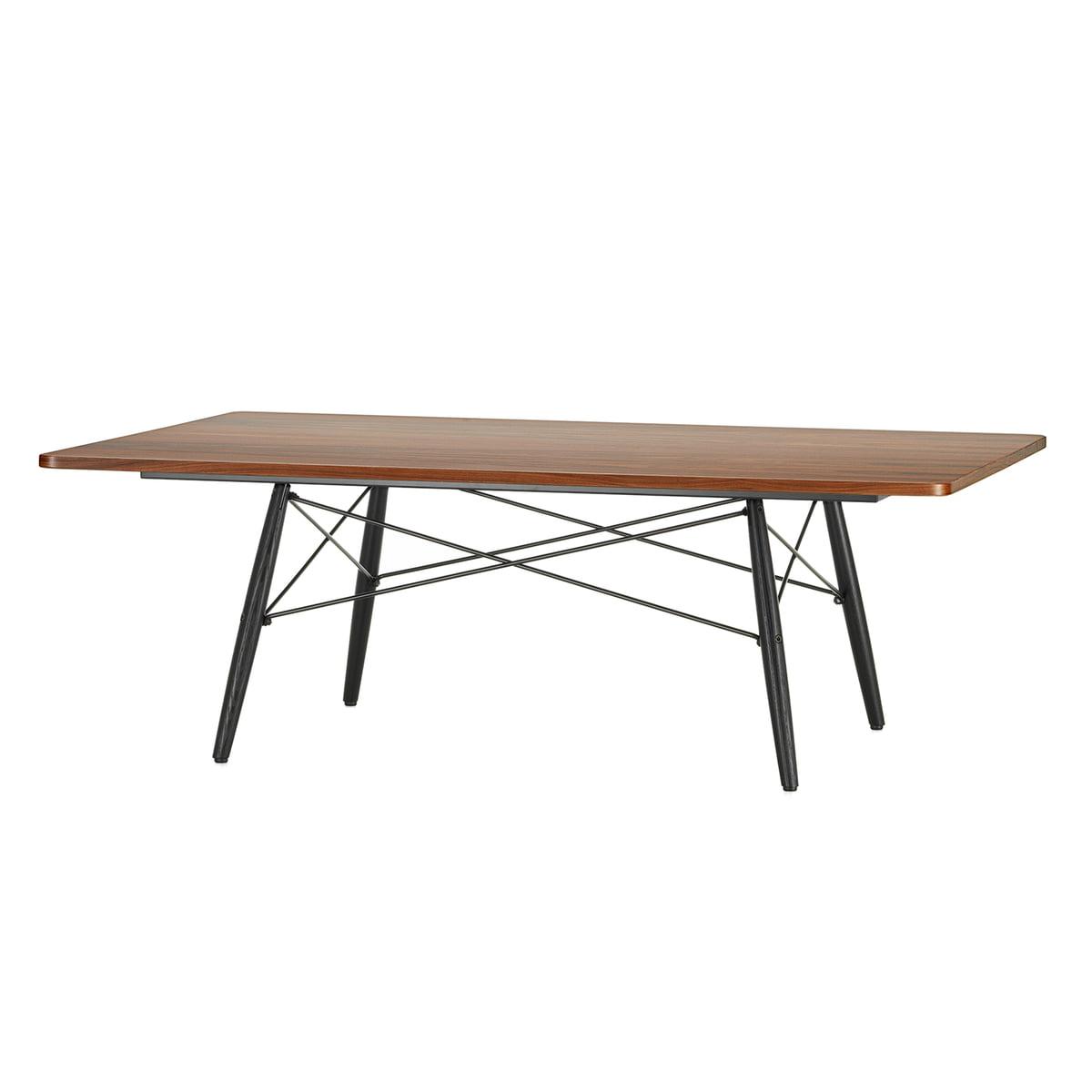 Vitra Eames Coffee Table Santos Palisander Ash Black 114 X 76 Cm